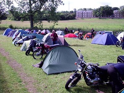2008 Jawa CZ Rally - Camping at Butterley